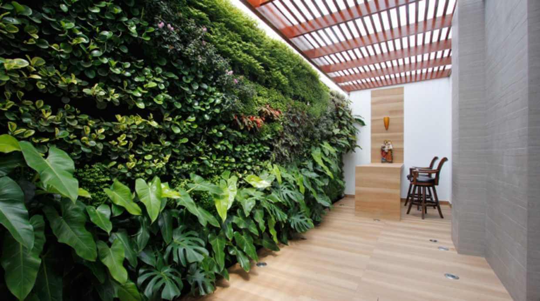 hogar sustentable, espacios verdes