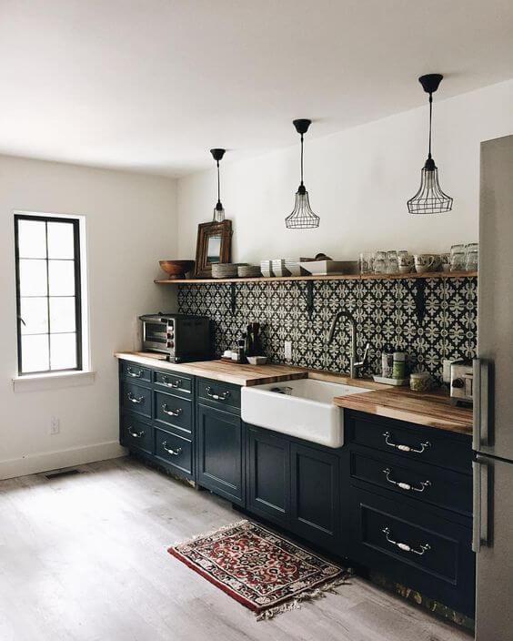Aprende a utilizar colores oscuros en tu cocina - Hazlo con Cerámicos