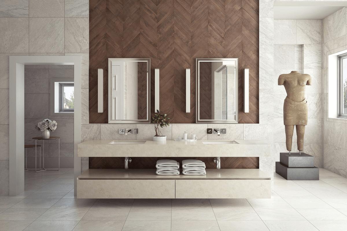 cerámicos porcelánicos porcelanatos diseño interiores baño baños