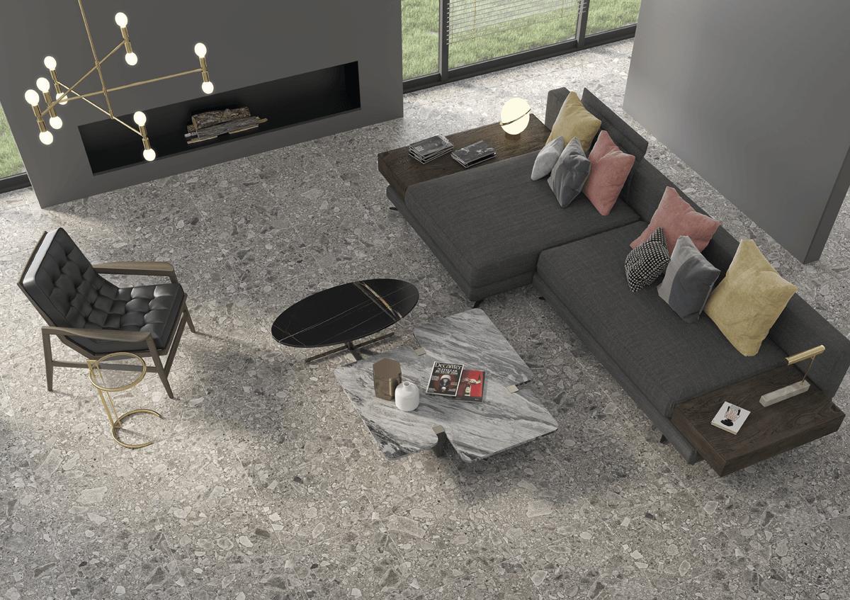 piso, azulejo, terrazo