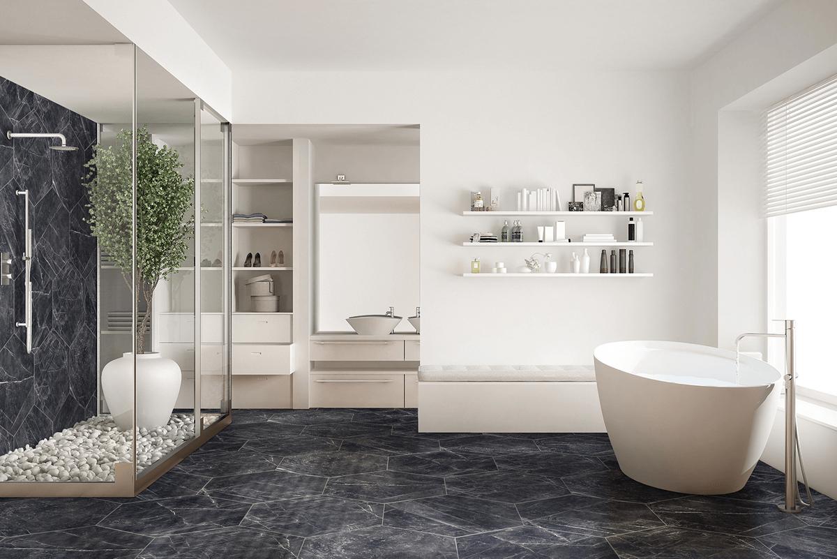 azulejos, pisos, ceramicos, hexagonos